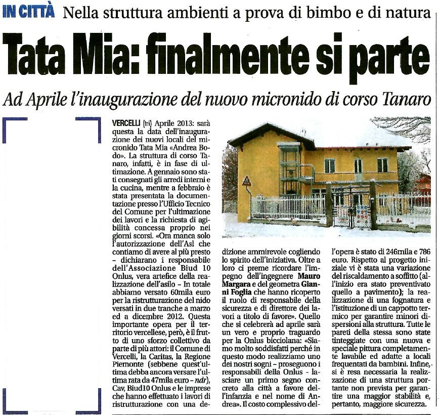 Articolo Notizia Oggi 25-03-2013