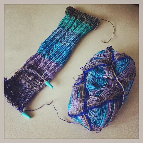 Last night knitting:) Il lavoro di ieri sera:)