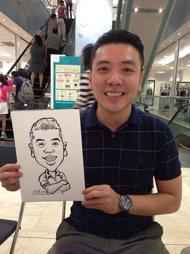 caricature live sketching for Takashimaya Good Friday Special - 4