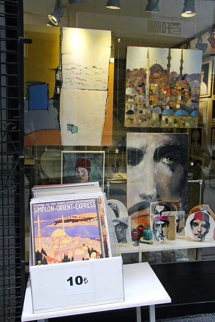 An art shop in Istanbul, Turkey イスタンブール新市街のアートショップ