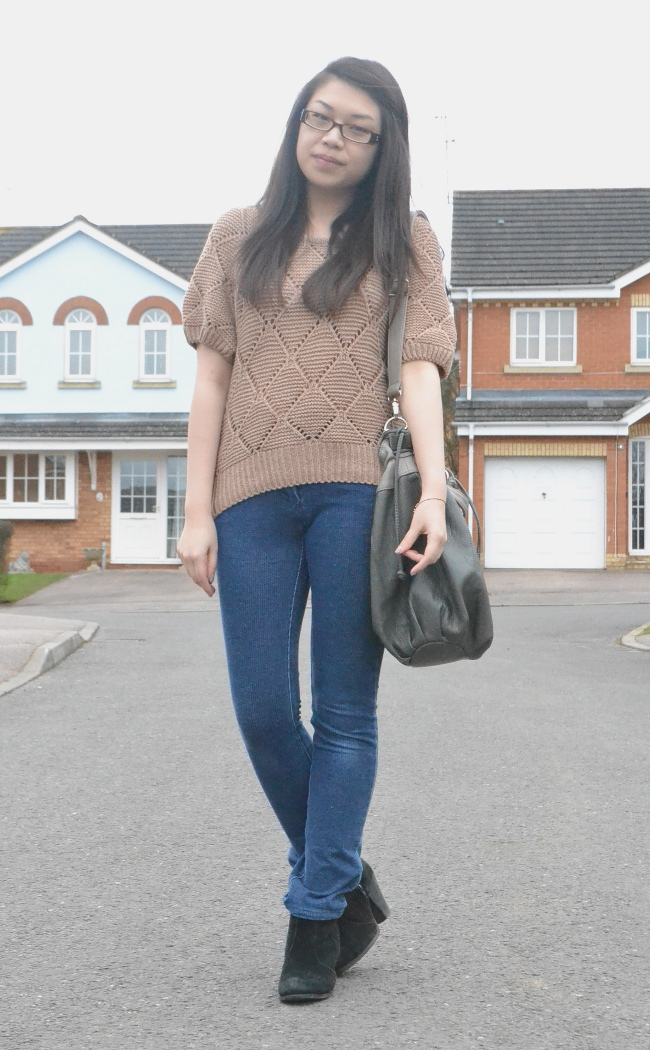 daisybutter - UK Style and Fashion Blog: what i wore, casual chic, long weekend outfit, knitted hoody, jeans, asos aggie boots, high street style