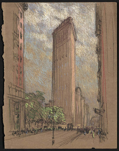 008- Flatiron Building New York-1904-1908- Joseph Pennell-Library of Congress