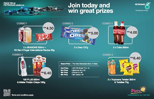 All you need to do is to purchase a minimum of one Race On promotional combo at Mesra Store like the picture below