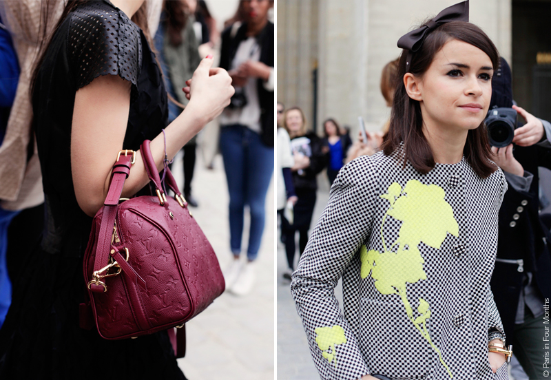 Miroslava Duma at Paris Fashion Week FW13