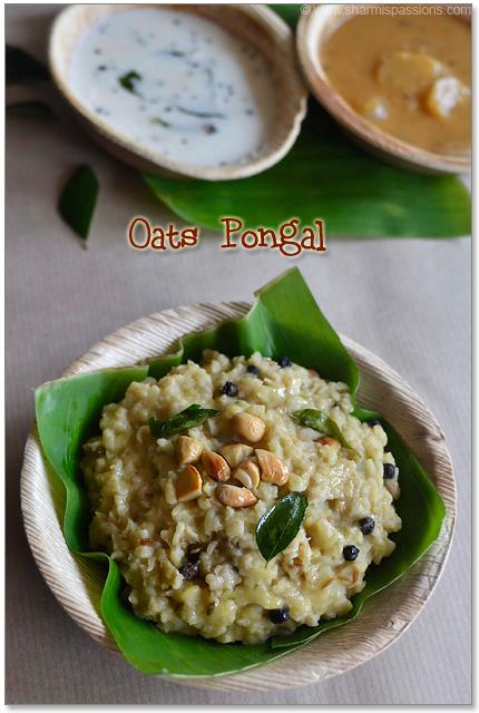 Oats Pongal Recipe