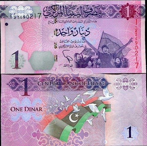1 Dinár Líbya 2013