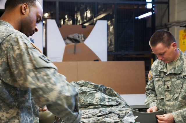 Supply turn-in with the Kentucky Army National Guard