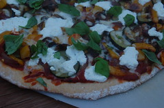 Roasted veg pizza