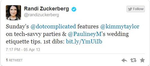 Zuckerberg Tweet