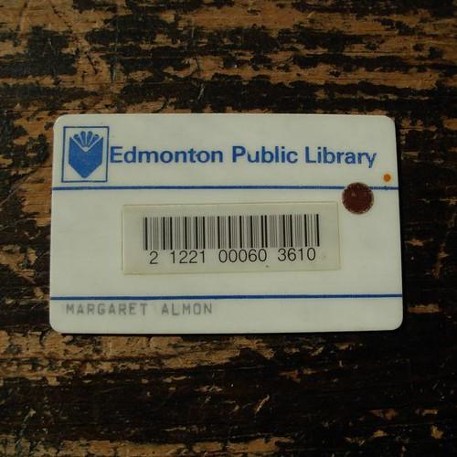Edmonton Public Library Card c. 1982