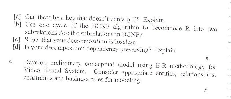 DTU Question Papers 2010 – 6 Semester - Mid Sem - COE-312
