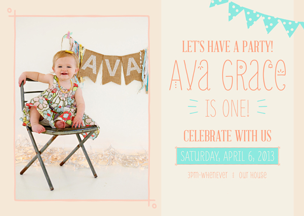 First party invitation