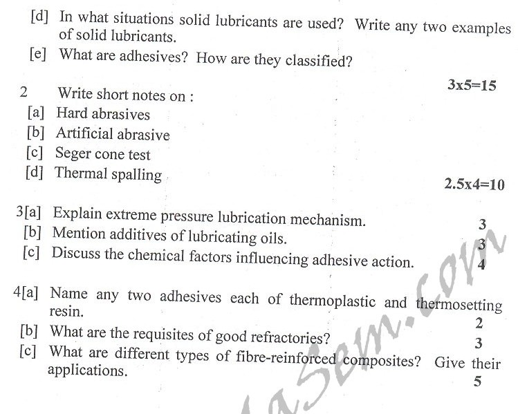 DTU Question Papers 2010 – 2 Semester - End Sem - PE-114