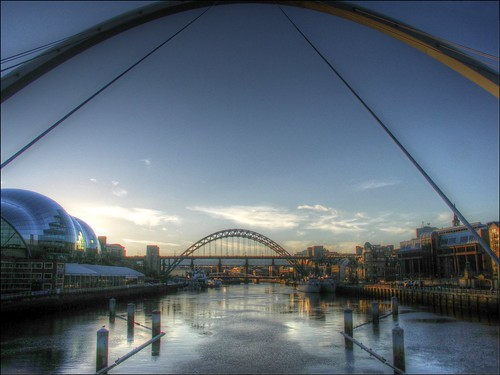bridge sunset reflection reflections river newcastle footbridge dusk sunsets tyne millenniumbridge milleniumbridge tyneside hdr newcastleupontyne quayside rivertyne thesage keithemerson thenice rnbtyne fivebridgessuite geordieshore milleniumbridgenewcastleupontynegateshead