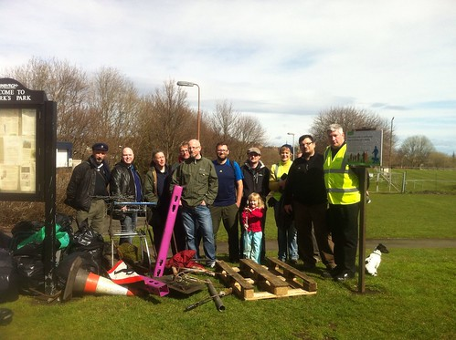 At the end of the St Marks Park clean-up