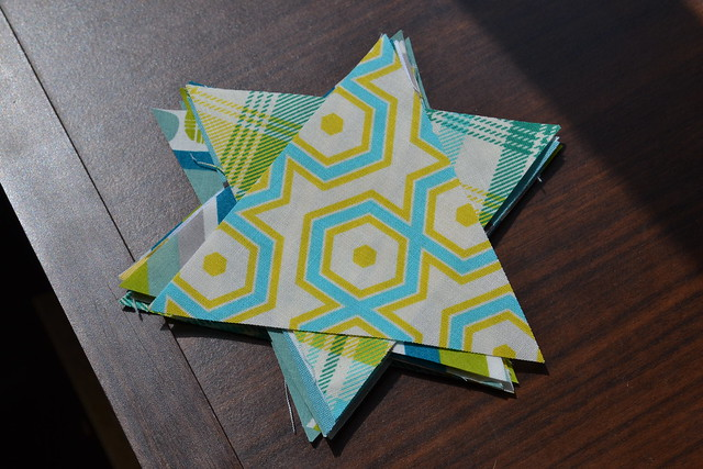 Triangles for Triangle Baby Quilt