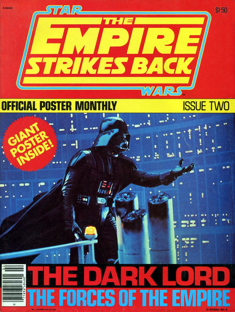 star wars empire strikes back poster magazine 2 darth vader cover