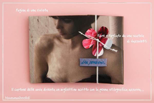 Rivista e fiore wrapping