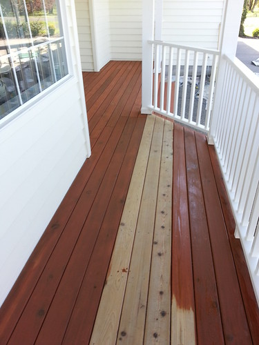 Restaining deck by JohnHowellConstruction.com