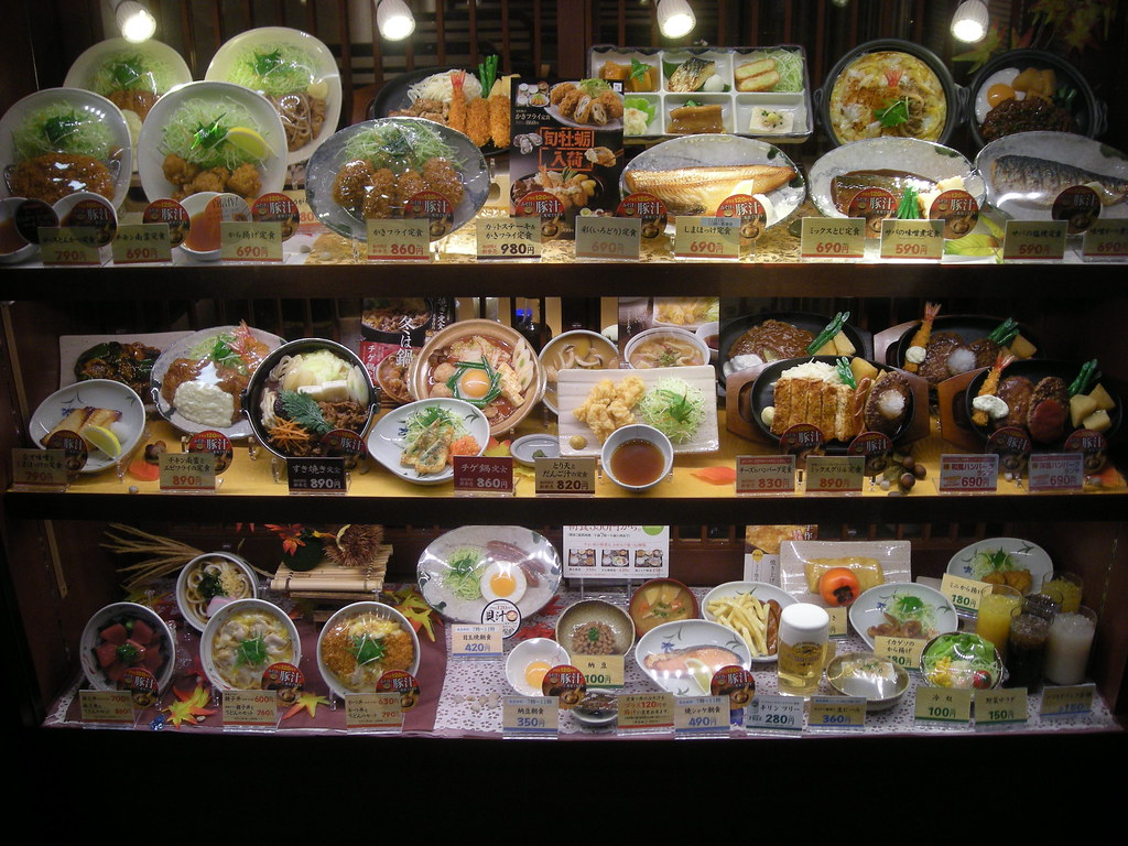 Plastic meal displays in Kyoto