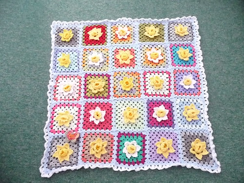 A gorgeous Daffodil Blanket mandas challenges. Thank you so much!