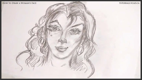 learn how to draw a womans face 026