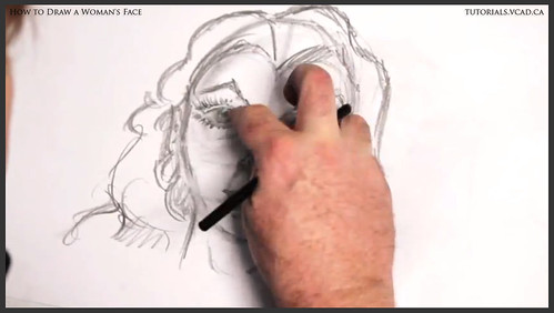 learn how to draw a womans face 020