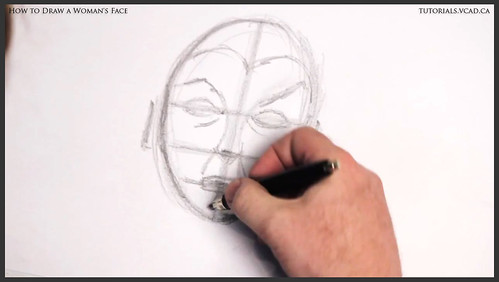 learn how to draw a womans face 009
