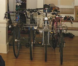Four cargo bikes