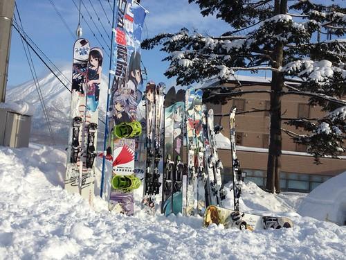 北海道オフの成功を祝福する羊蹄山