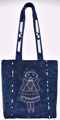 cobalt blue(0.0), brand(0.0), bag(1.0), pattern(1.0), shoulder bag(1.0), handbag(1.0), tote bag(1.0), electric blue(1.0), design(1.0), blue(1.0),