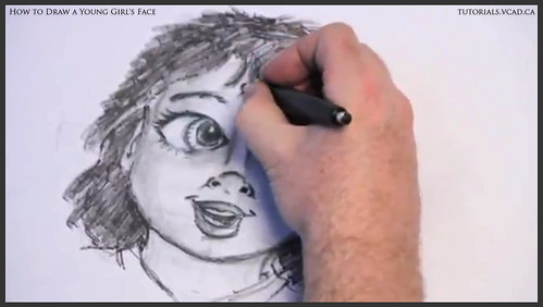 learn how to draw a young girls face 025