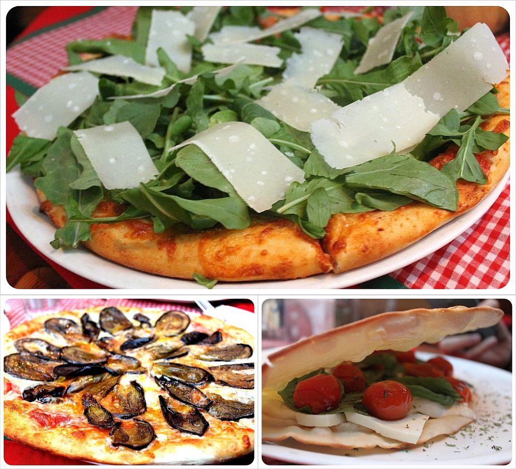 Pizza at Tiramisu in Santiago