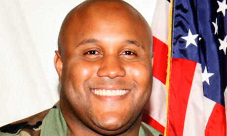 Christopher Dorner was reportedly burned to death by San Bernadino County Sheriffs in a cabin on February 13, 2013. He was subjected to a manhunt for several weeks. by Pan-African News Wire File Photos
