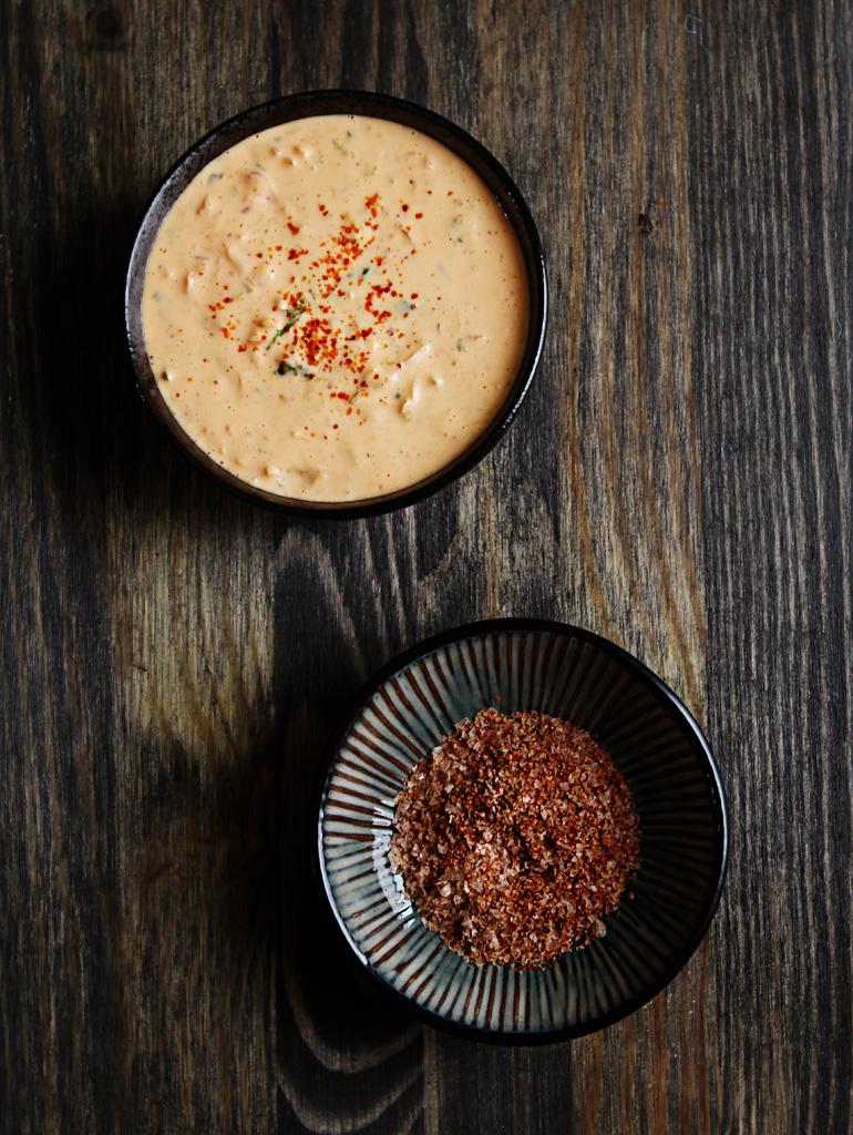 Kimchi Mayo and Paprika Salt
