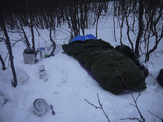 Winter camping sleeping system