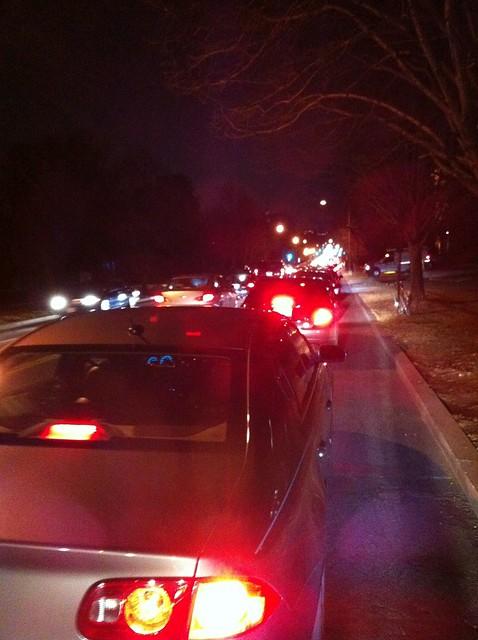 Traffic jam on Mass Ave