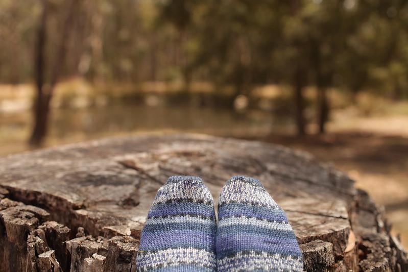 Blue Opal Socks