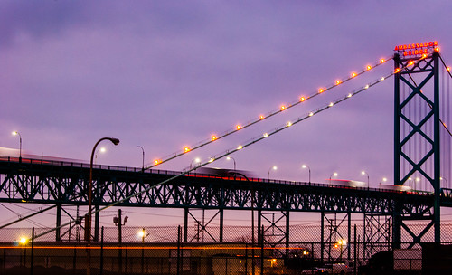 The Ambassador Bridge from Duty Free - #45/365 by PJMixer
