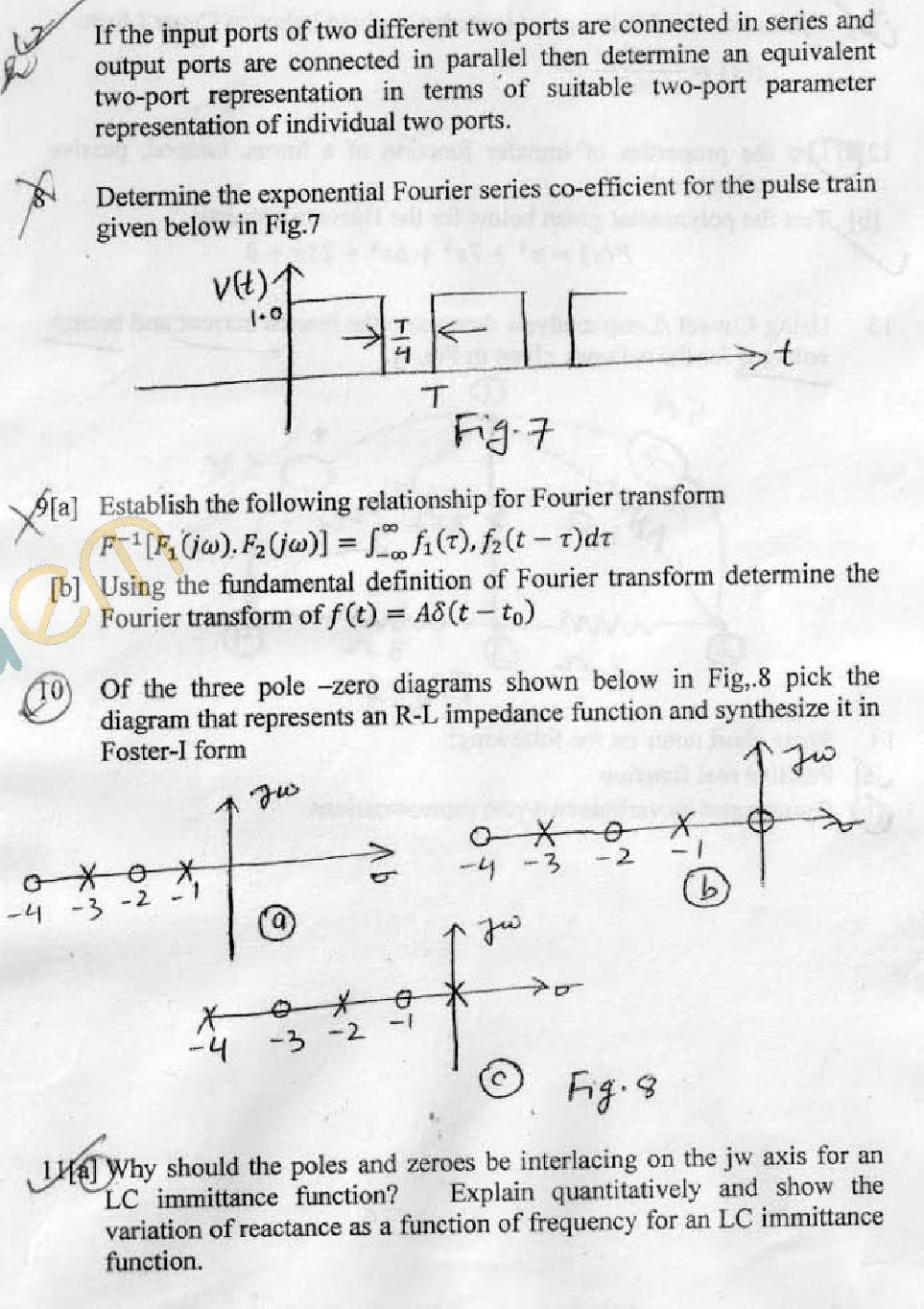 DTU Question Papers 2011 - 3 Semester - End Sem - EE-EEE-203
