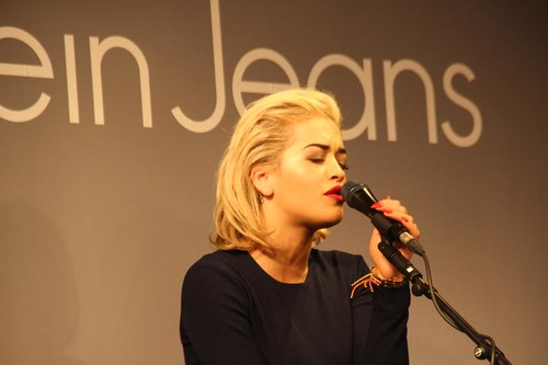 Rita Ora Calvn Klein Jeans launch london