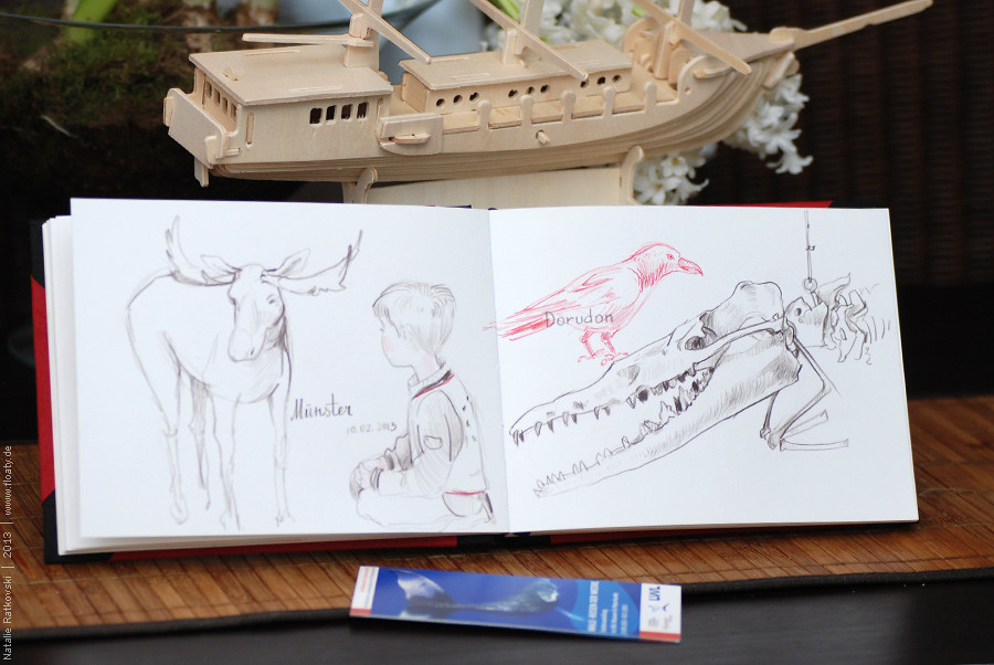 Sketches in the exhibition