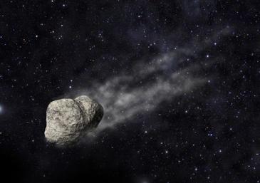 Representación del asteroide