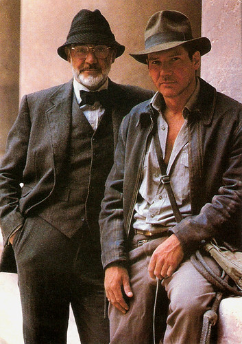Sean Connery, Harrison Ford, Indiana Jones and the Last Crusade
