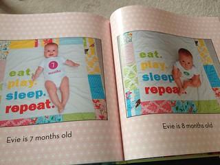 Evie's baby book