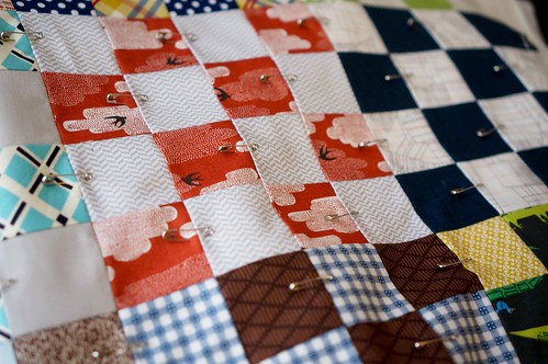 16 patch quilt top