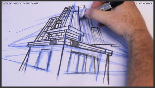 learn how to draw city buildings 025