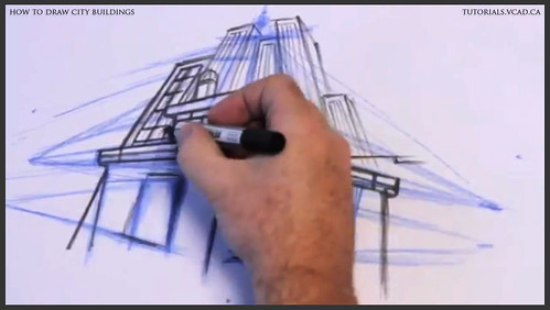 learn how to draw city buildings 022