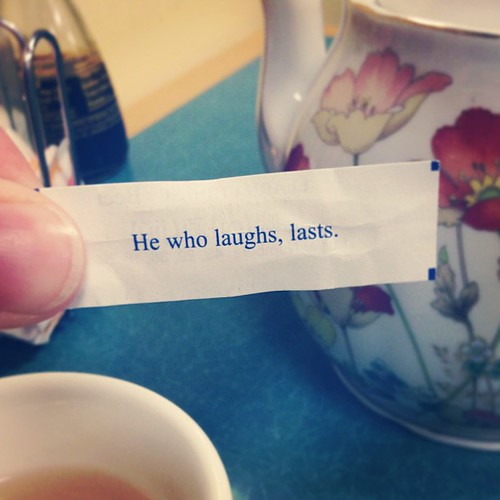 Fortune cookie wisdom.