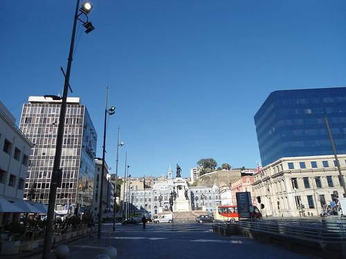 Plaza Sotomayor/Sotomayor square, Valparaíso, Chile - www.meEncantaViajar.com by javierdoren